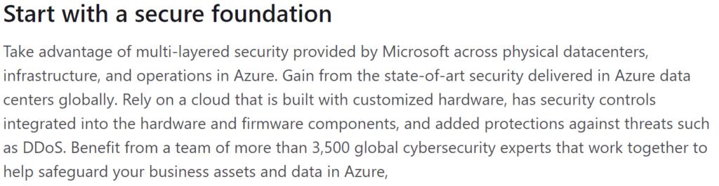 Microsoft Azure Private Cloud Data Security